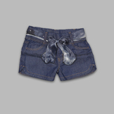 Basic Editions Girl's Belted Denim Shorts at mygofer.com