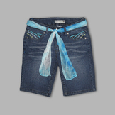 Route 66 Girl's Shaped Pocket Belted Denim Shorts at mygofer.com
