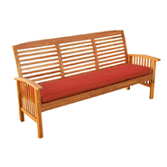 Walker Edison 3-Seat Acacia Wood Patio Bench with Cushion at Sears.com