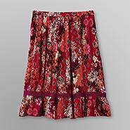 Jaclyn Smith Women's Crepe Skirt - Floral Print at Kmart.com