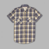 Heritage Nation Men's Short Sleeve Plaid Button-front Shirt at mygofer.com