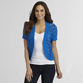 Basic Editions Women's Crocheted Cardigan at Kmart.com