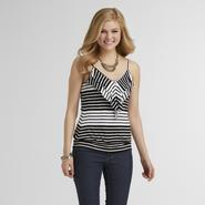 Attention Women's Tiered Ruffle Cami - Striped at Kmart.com