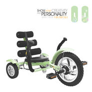 MOBO Mini - The World's Smallest Luxury Three Wheeled Cruiser (Green) at Kmart.com