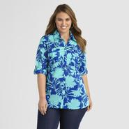 Jaclyn Smith Women's Plus Blouse - Floral Print at Kmart.com