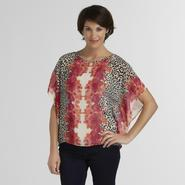 Jaclyn Smith Women's Poncho - Animal & Floral Prints at Kmart.com