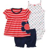 Carter's Infant Girl's Tunic, Bodysuit & Bloomers - Striped at mygofer.com