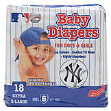 Braco Manufacturing NEW YORK YANKEES SUPREME DISPOSABLE BABY DIAPERS - Size 6 at mygofer.com