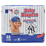 Braco Manufacturing NEW YORK YANKEES SUPREME DISPOSABLE BABY DIAPERS -  Size 4 at mygofer.com