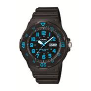 Casio Men's Divers Black Resin Watch w/ Black & Blue Dial at Sears.com