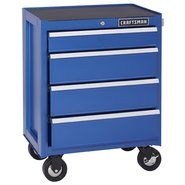 Craftsman 4-Drawer Ball-Bearing Bottom Chest - Chrome Blue at Craftsman.com