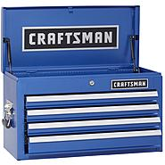 Craftsman 4-Drawer Ball-Bearing Top Chest - Chrome Blue at Craftsman.com