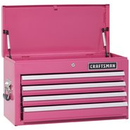 Craftsman 4-Drawer Ball-Bearing Top Chest - Pink at Craftsman.com