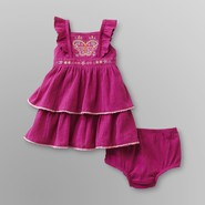 Route 66 Newborn Girl's Tiered Crepon Dress Set at Kmart.com