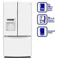 Kenmore Elite 31.0 cu. ft. French Door Bottom-Freezer Refrigerator - White at Kenmore.com