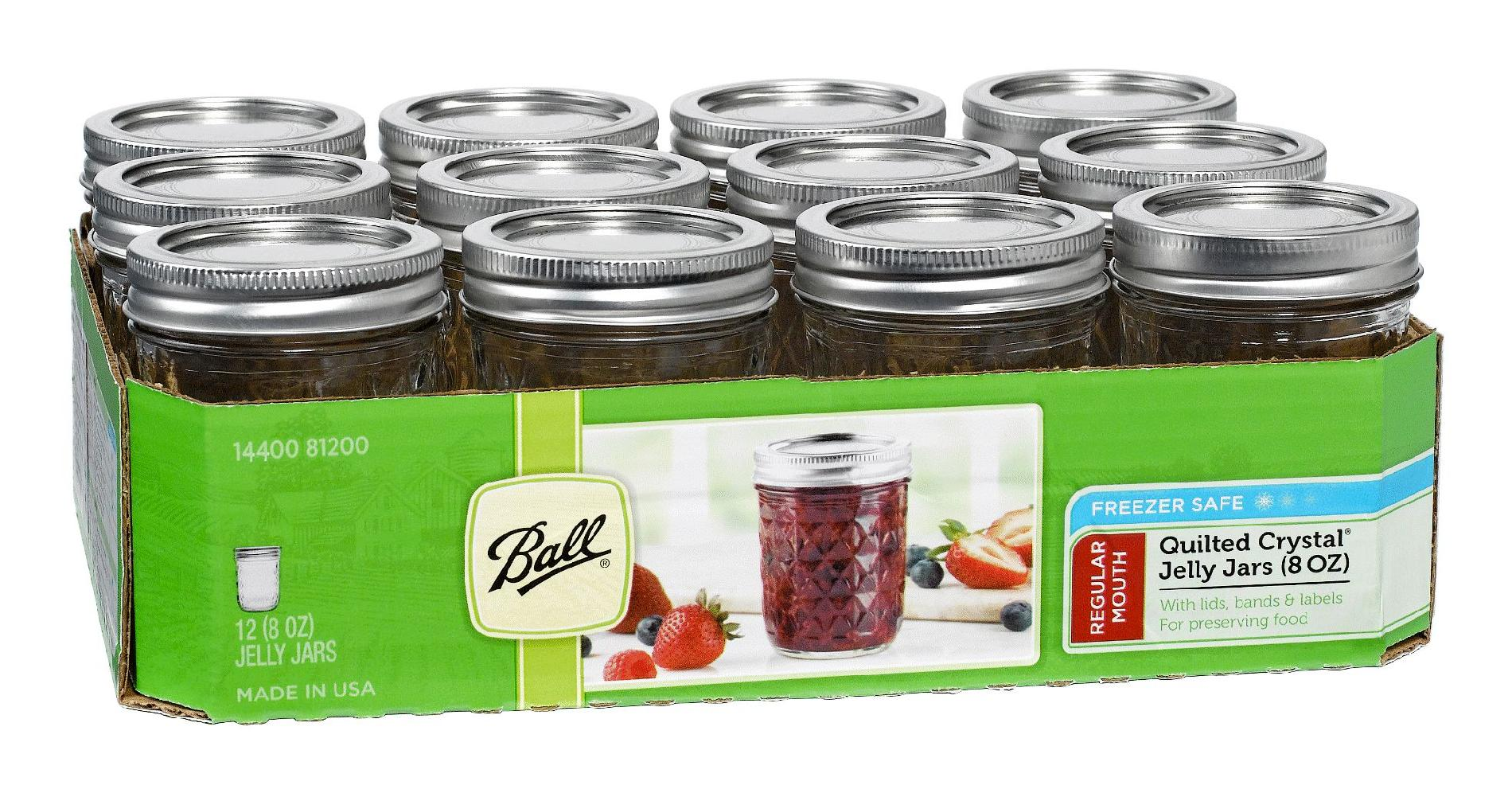 Ball  Quilted Jelly Canning Jar, Regular
