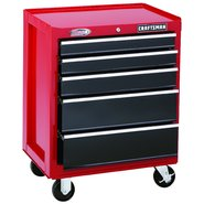"Craftsman 26"" Wide 5-Drawer Ball-Bearing Bottom Chest - Red/Black at Craftsman.com"