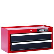 Craftsman 26 in. 2-Drawer Heavy-Duty Ball Bearing Middle Chest - Red/Black at Craftsman.com