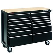 "Craftsman 52"" Wide 14-Drawer Ball-Bearing GRIPLATCH® Tool Cart - Black at Sears.com"