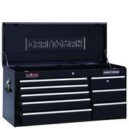 "Craftsman 40"" Wide 8-Drawer Ball-Bearing Griplatch Top Chest - Black at Craftsman.com"