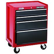 "Craftsman 26"" Wide 4-Drawer Ball-Bearing Bottom Chest - Red/Black at Craftsman.com"
