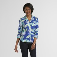 Jaclyn Smith Women's Linen Shirt - Floral at Kmart.com