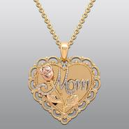 "Bronze 18"" Mom Heart Pendant at Kmart.com"