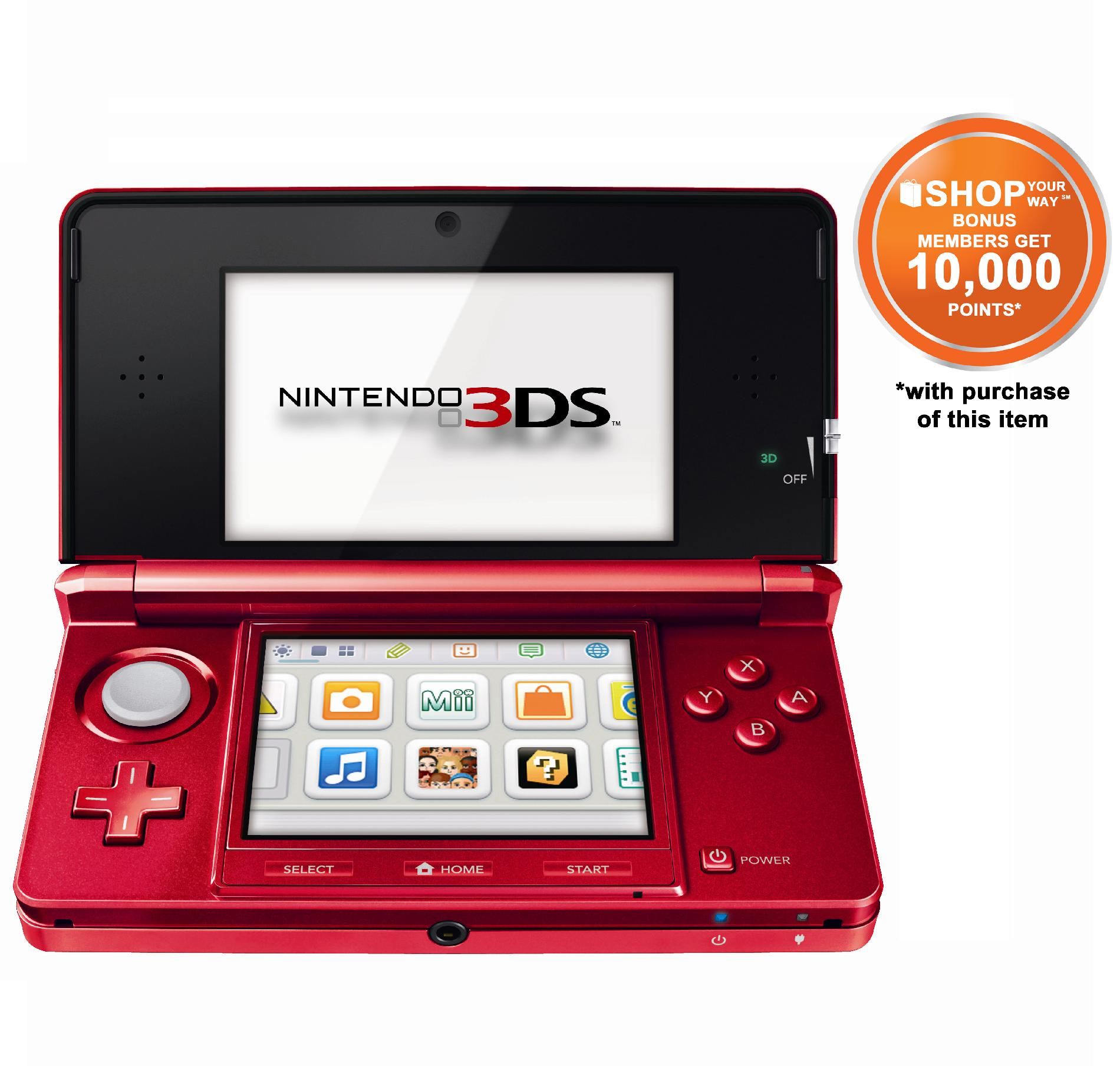 3DS Handheld Game Console - Flame Red