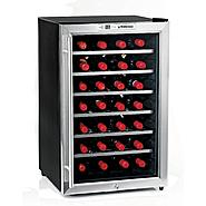 Wine Enthusiast Silent 28 Bottle Wine Refrigerator (Stainless Steel) at Sears.com