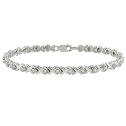1 CT  Diamond  7in Bracelet Silver  I-J I3 at Kmart.com