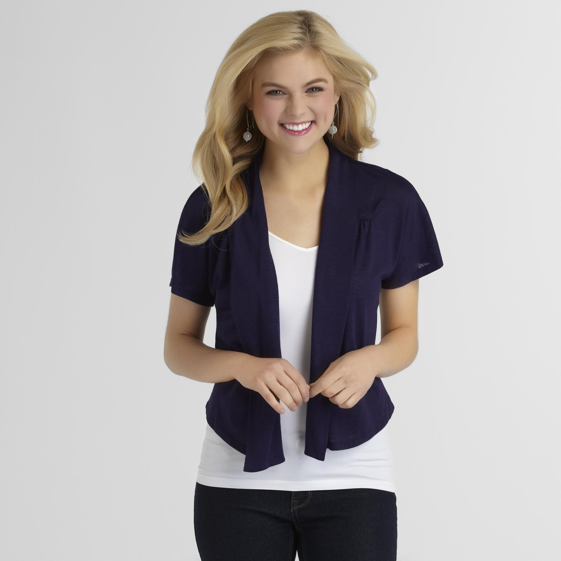 Attention Women's Slubbed Shrug at Kmart.com