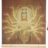 Oriental Furniture Thousand Arm Kwan Yin Bamboo Blinds - (72 in. x 72 in.) at Kmart.com