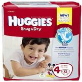 Huggies Snug & Dry Diapers, Jumbo, Size 4, 22-37 lbs, 31 Diapers at mygofer.com