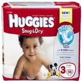 Huggies Snug & Dry Diapers, Jumbo, Size 3, 16-28 lb, 36 Diapers at mygofer.com