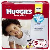 Huggies Snug & Dry Diapers, Jumbo, Size 5, Over 27 lb, 27 Diapers at mygofer.com