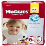 Huggies Snug & Dry Diapers, Jumbo, Size 6, Over 35 lb, 23 diapers at mygofer.com