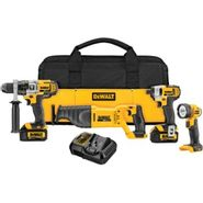 DeWalt 20 V MAX* Lithium Ion 4-Tool Combo Kit (3.0 Ah) at Sears.com