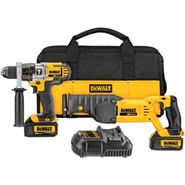 DeWalt 20 V MAX* Lithium Ion Hammerdrill / Recip Saw Combo Kit (3.0 Ah) at Sears.com