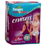 Pampers Cruisers Diapers, Size 6 (35+ lb), Sesame Street, Jumbo, 22 diapers at mygofer.com