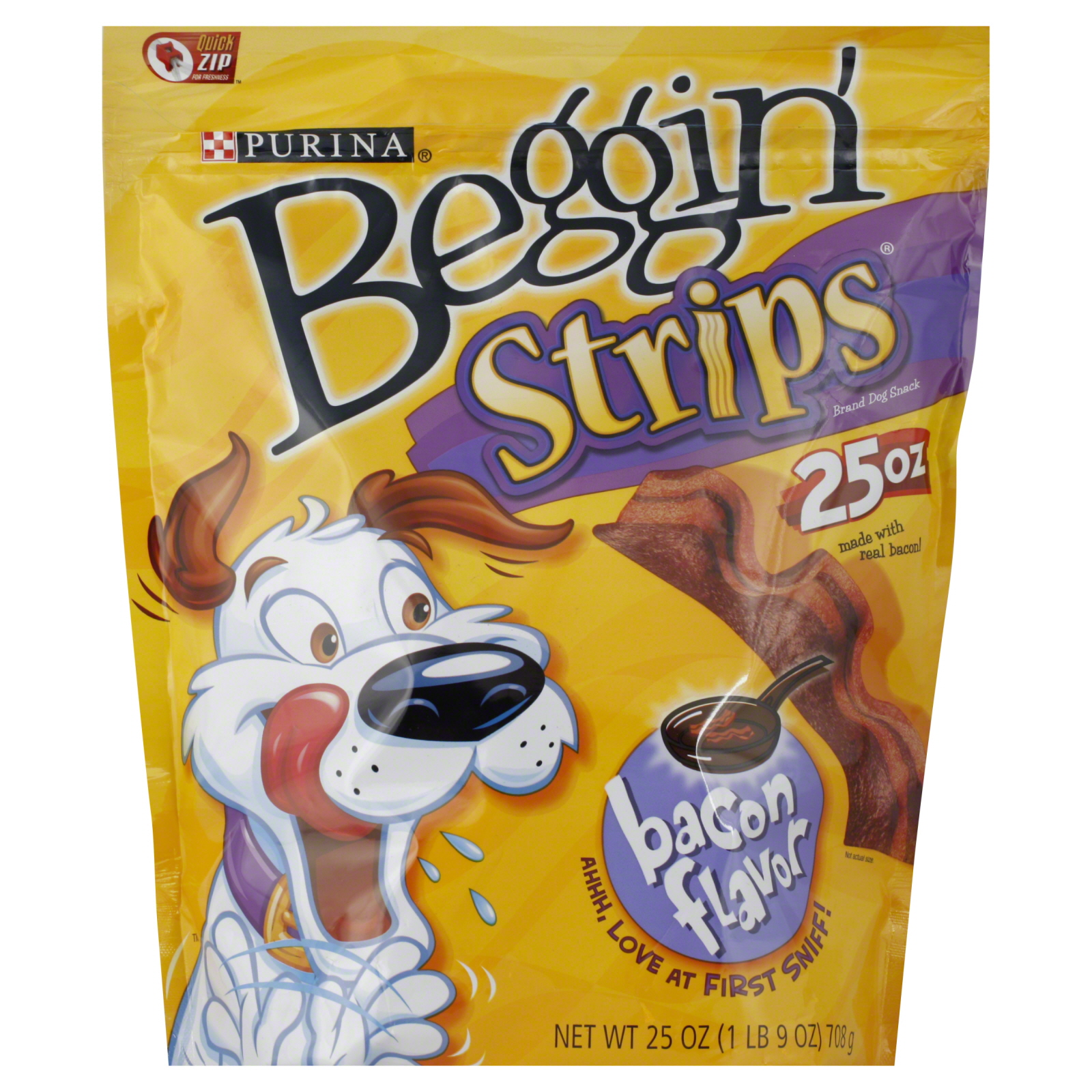 Beggin Strips Dog Snack, Bacon Flavor, 25 oz (1 lb 9 oz) 708 g