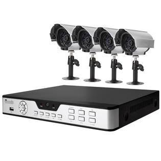 Zmodo 4CH H.264 DVR CCTV Security System with 4 Indoor/Outdoor Night Vision Security Cameras and No Hard Drive at Sears.com