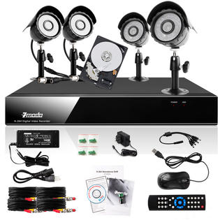 Zmodo 4CH H.264 Outdoor Security Surveillance System with 65ft IR 480TVL Night Vision Cameras &amp; 1TB Hard Drive at Sears.com