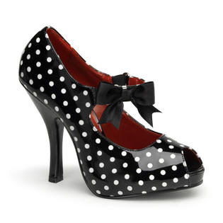 Pleaser Cutiepie-07 Womens Sexy Polka Dot High Heel Retro Style Mary Janes Peep Toe Shoes Pump at Sears.com