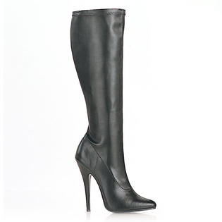 Pleaser Domina-2000 Womens Knee High Black Matte Boots Heels Shoes at Sears.com