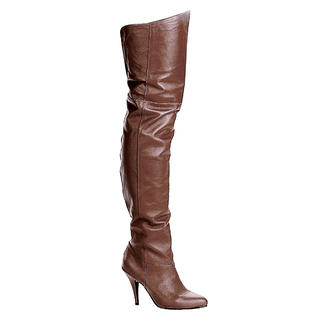 Pleaser Legend-8868 Womens Brown Pull On Leather Pirate Renaissance Medieval Thigh High 4 Inch High Heel Boots at Sears.com