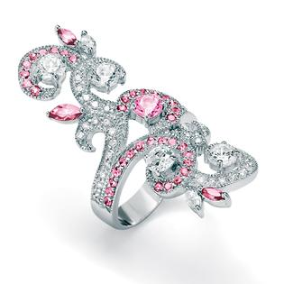 PalmBeach Jewelry Pink and White Cubic Zirconia Ring at Sears.com