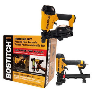 Stanley Bostitch ROOFKIT2 1-3/4-in Roofing Nailer and 18 Gauge Cap Stapler Combo Kit at Sears.com