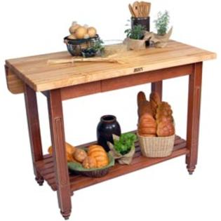 John Boos Kitchen Island with Drop Leaf and Butcher Block Top at Sears.com