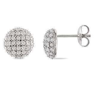 Amour 1 ct.t.w. Diamond Earrings in Silver, I3-I4, H-I-J at Sears.com