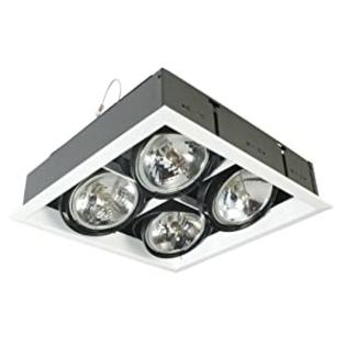 Eurofase TE104BTR-01 4-Light Square AR111 Recessed Mutiple Trim with 0084B4 Transformer, Black at Sears.com